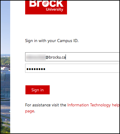 Sign in with your Brock University email and password.png