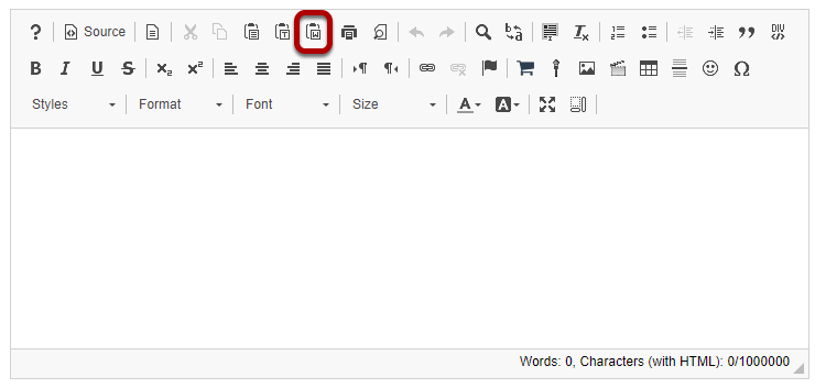 In the Rich Text Editor, click the Paste From Word icon.png